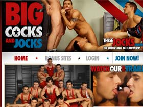 Welcome to Big Cocks And Jocks - strong muscle gays with big cocks suck and fuck in group!