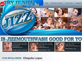 Welcome to Jizz Mouth Wash - chiquita lopez swallows cum!