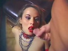 Vicious nurse in latex gets cumshot