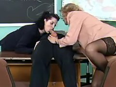 Milf teachers share cock