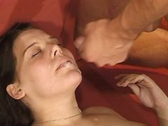 Teen preggy chick gets fuck and cum