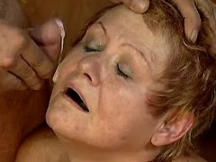 Retired lady gets facial