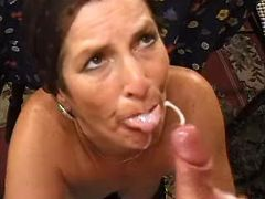 Perky widow in years gets cumload