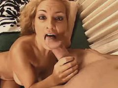 Milf sucks and gets anal fingering