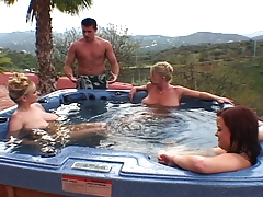 Busty Euro Maids: Hot Tub Fuck Machine