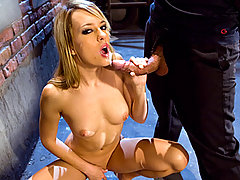 Blonde girl vivien style enjoys a good facial