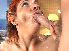 Perky redhead mom shoots home porn in her bedroom