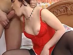 Hot redhead vixen fucking with hunk
