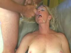 Granny crazy fucks and gets cumload