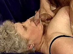 Aged ladies get facial in group sex
