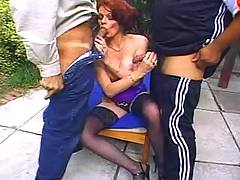 Two guys have fun w milf