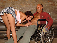 Disabled guy is able to walk after anal sex
