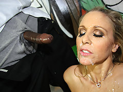 Black girl gets cum